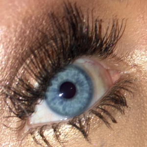 eyelash extensions closeup