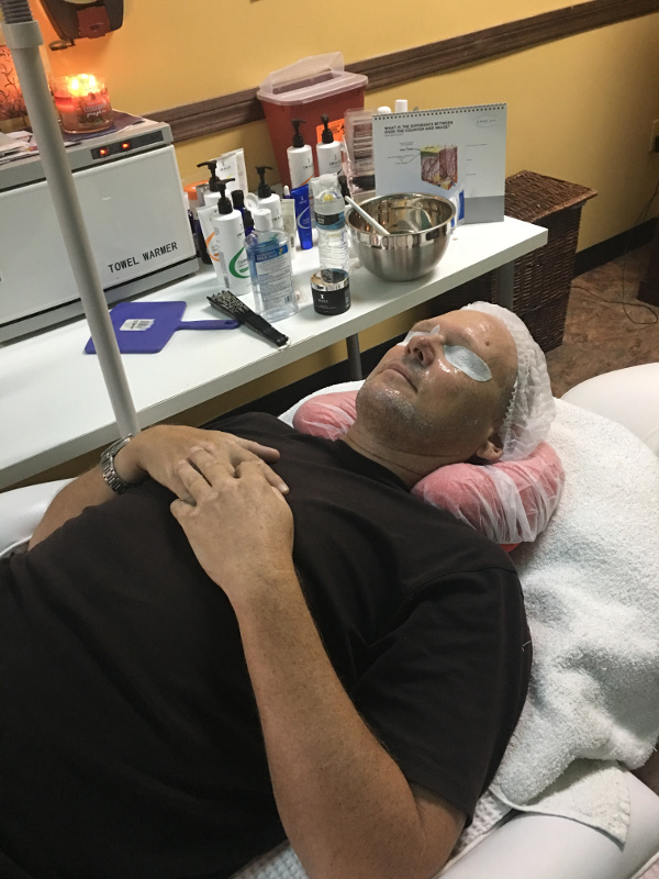 men's facial in tampa spa